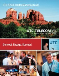 Exhibitor and Sponsorship Guide 2014 - Utilities Telecom Council