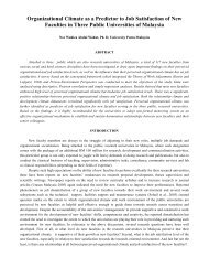 Organizational Climate as a Predictor to Job Satisfaction of ... - JGBM