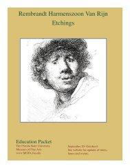 Rembrandt Harmenszoon Van Rijn Etchings - Museum of Fine Arts