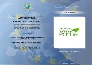 CERTIFICADO DE REGISTRO CERTIFICATE OF REGISTRATION ...