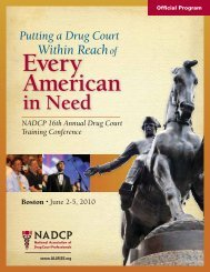 7:00 pm - National Drug Court Institute