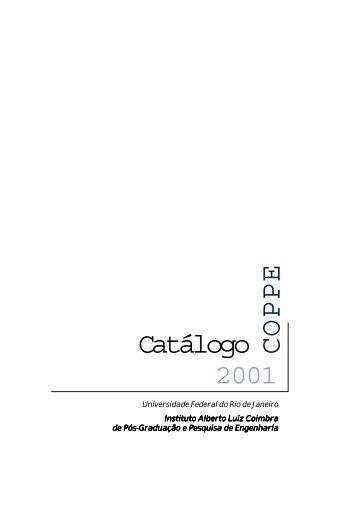 catalogo coppe-nv - UFRJ