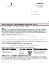 Formulaire de procuration - Assemblée annuelle qui aura lieu le ...