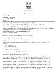 10-119193 - Annonce publiée le 07 JUIN 2010 Avis de ... - Tarascon
