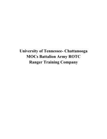 Chattanooga MOCs Battalion Army ROTC Ranger Training Company