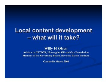 Local content development – what will it take? - United Nations in ...