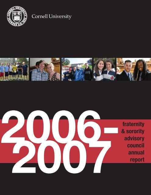 fraternity & sorority advisory council annual report - Office of the ...