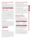 fraternity & sorority advisory council annual report - Office of the ... - Page 7