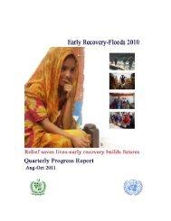 ERWG Quarterly Progress Report Aug-Oct 2011 - Pakistan Floods ...