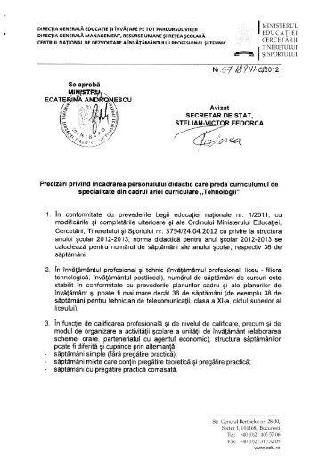 DiREcŢiA GENERALĂ MANAGEMENT, RESURSE uMANE ... - Giurgiu