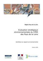 Evaluation stratégique environnementale du CPER des Pays de la ...