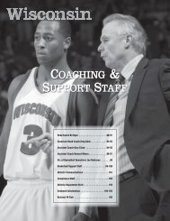 Coaching Staff and Support - UWBadgers.com