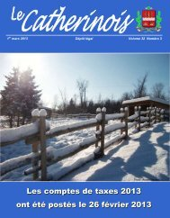 Mars 2013 - Ville de Sainte-Catherine-de-la-Jacques-Cartier