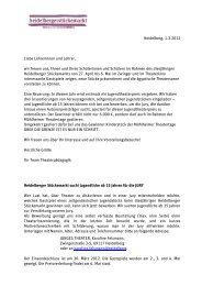 Heidelberg, 1.3.2012 Liebe Lehrerinnen und Lehrer, wir freuen uns ...