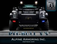 Typically Armored to Level A9/B6+ - Alpine Armoring Inc.
