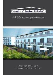 45 Studentenappartements - Kreativ Hausbau GmbH