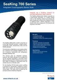SeaKing 700 Series - Integrated Oceanographic Sensor Suite - Tritech