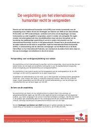 De verplichting om het internationaal humanitair recht te verspreiden