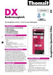Technisches Merkblatt DX - allfloors