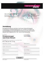 Anmeldung Privatschulungen nach Ihrem Wunsch - Make-up Artist ...