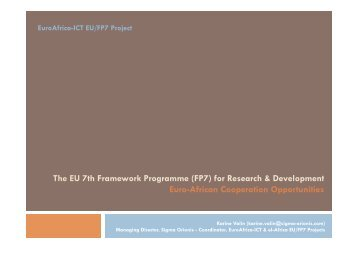 The EU 7th Framework Programme (FP7) for ... - EuroAfrica-ICT