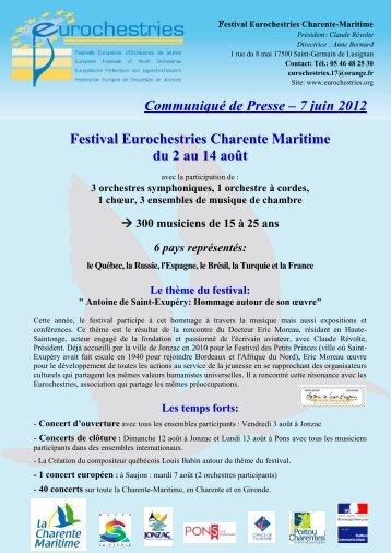 Charente Maritime - Juin 2012 - Eurochestries