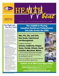 September 2006 - McCrone Healthbeat