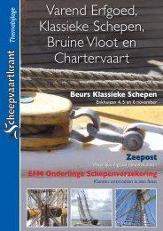 Varend Erfgoed, Klassieke Schepen, Bruine Vloot en Chartervaart