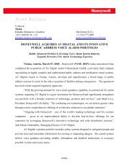 News Release - ESSER by Honeywell