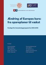 Ændring af Europas kurs: fra spareplaner til vækst