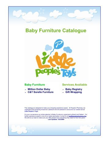 Baby Furniture Catalogue - Little People's Toys