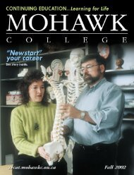 Mohawk College Fall 2002 Continuing Education Catalogue
