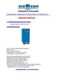 Gebrauchte Maschinen - Siebert Hydraulik & Pneumatik