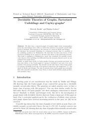 Decidable Theories of Graphs, Factorized Unfoldings and Cayley ...