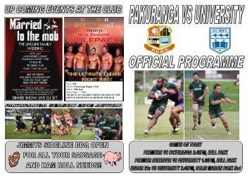 Pakuranga Rugby Club When: 30th June Show Starts ... - AllTeams