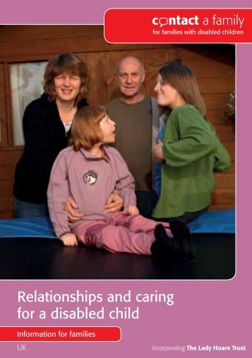 Relationships and caring for a disabled child - Contact a Family