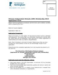 Application Form - The University of Nottingham, Malaysia Campus