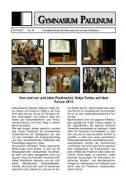 Paulinum-Info 48 online Version - Gymnasium Paulinum