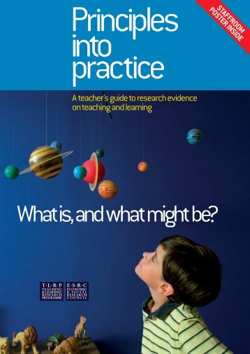 Principles into practice: A teacher's guide to research evidence on ...