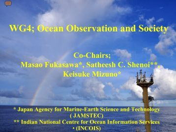 WG4; Ocean Observation and Society