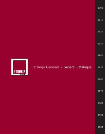 Catalogo Generale > General Catalogue