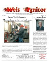 The Weis Ignitor Feb Issue 2-11 - Weis Fire & Safety Equipment
