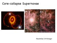 Max's first presentation on core-collapse supernovae