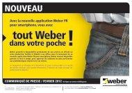 Lire la suite du communiqué - Weber