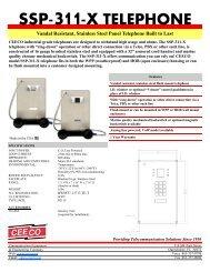 SSP-311-X TELEPHONE Vandal Resistant, Stainless ... - Ceeco.com