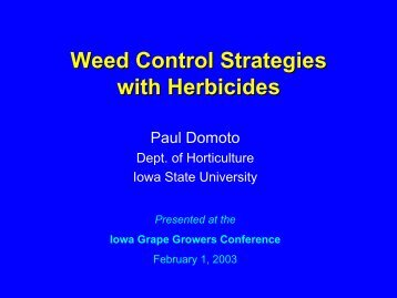 Weed Control Strategies with Herbicides - Viticulture Iowa State ...