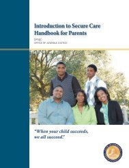 OJJ Secure Facilities Booklet for Parents - Office of Juvenile Justice ...