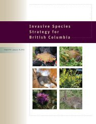Invasive Species Strategy for British Columbia - Invasive Plant ...