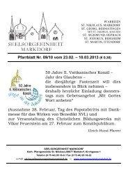 Pfarrblatt Nr. 09/10 vom 23.02. – 10.03.2013 (€ 0,30)
