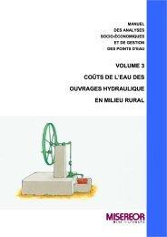 volume 3 coûts de l'eau des ouvrages hydraulique en milieu rural